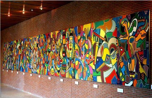 Le Cameroun bénéficiaire d'une toile géante de 12 panneaux réalisés au Congo