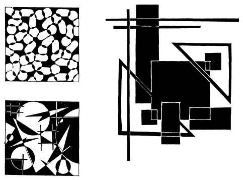 Основы композиции, часть 1, (руководство): Задание 6. Организация плоскости с помощью подобных элементов »