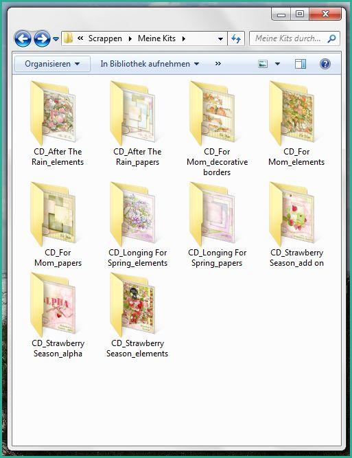 Ein Klick auf das Bild führt zum Blogpost auf Digital Scrapbook Art. Es wird erklärt, wie man das Kit-Vorschaubild jeweils im Ordnersymbol des Windows Explorers sichtbar machen kann. Das erleichtert das Sortieren und Auffinden von Scrapbook-Kits.