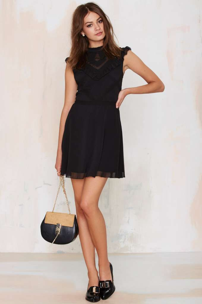 Nasty Gal Francois Ruffle Dress - Fit-n-Flare | LBD | Dresses