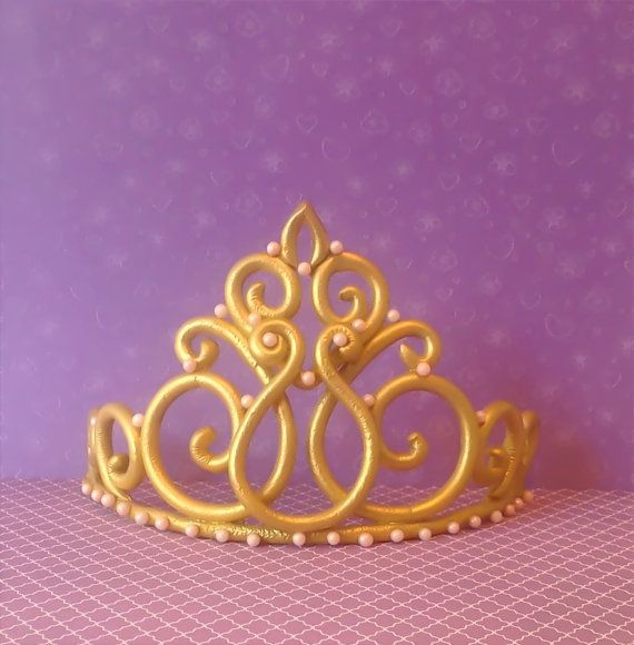 Princess crown tiara cake topper by LuluCupcakecom on Etsy, $43.95
