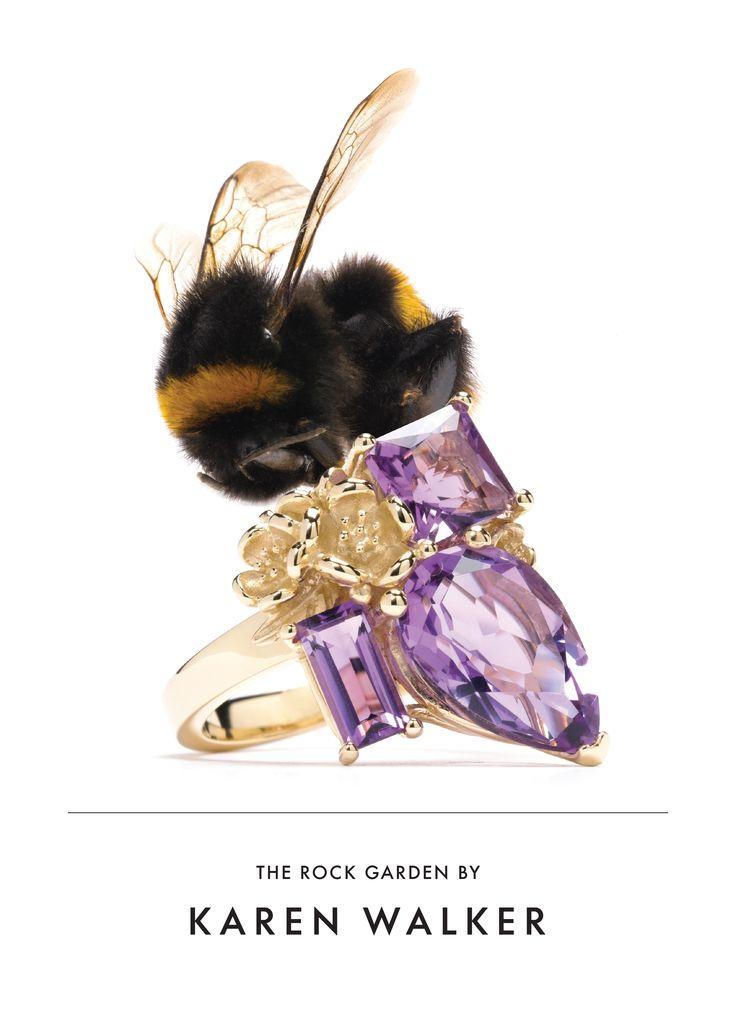 Karen Walker Amethyst Rock Garden Ring