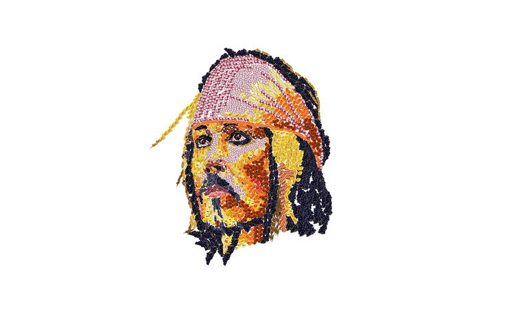 Johnny Depp disegnato con frutta e verdura digitale  https://www.youtube.com/watch?v=ja69HyqkRSI
