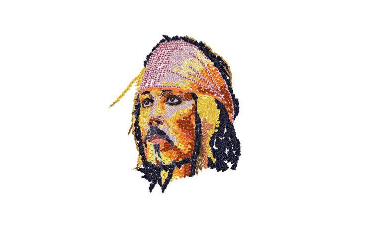 Johnny Depp disegnato con frutta e verdura digitale  https://www.youtube.com/watch?v=ja69HyqkRSI