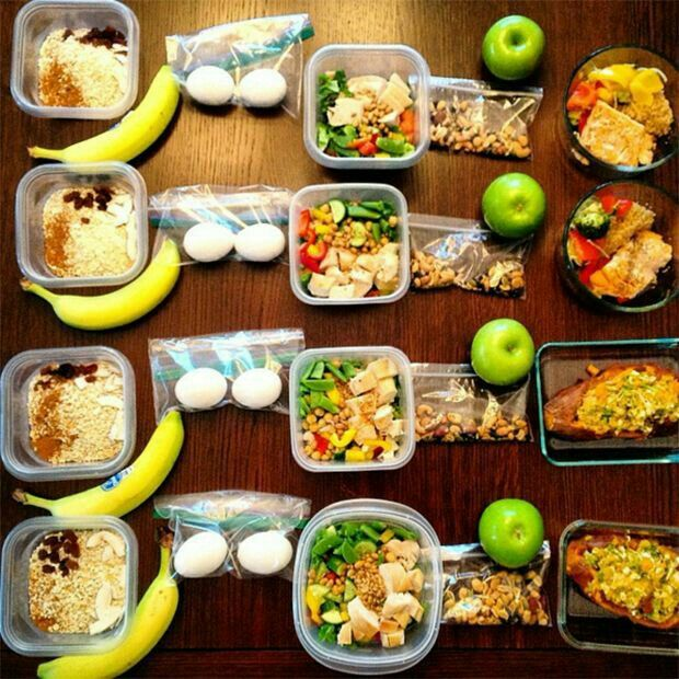 Oatmeal & banana  Chicken or tuna salad
