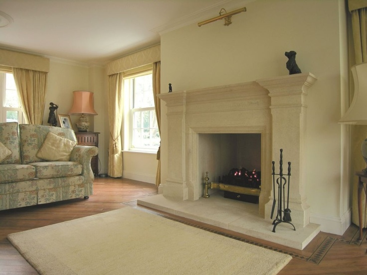 Reproduction Georgian Fireplaces Part - 30: The Pilastered Georgian Stone Fireplace. Templestone.co.uk
