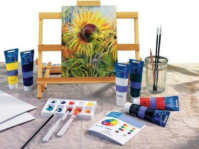 Artist's Loft™ Acrylic Paint Easel Set