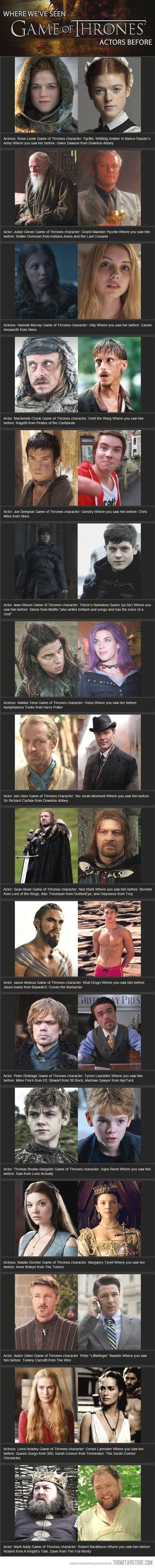 #Game of Thrones characters: Where Have We Seen You Before?…