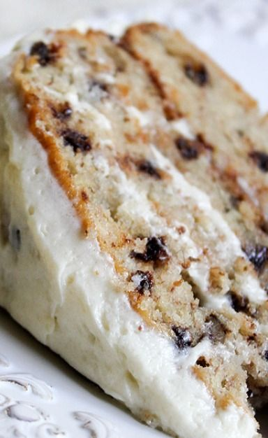 Chocolate Chip Banana Cake. Someone needs to make this for me!