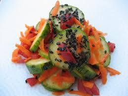 Asian cucumber salad | Vegetarian Yum | Pinterest