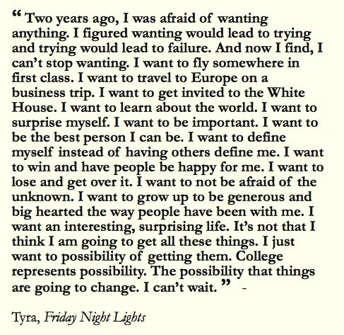 This is exactly how I feel sometimes. I want someone to truly invest in my life, education and passions.