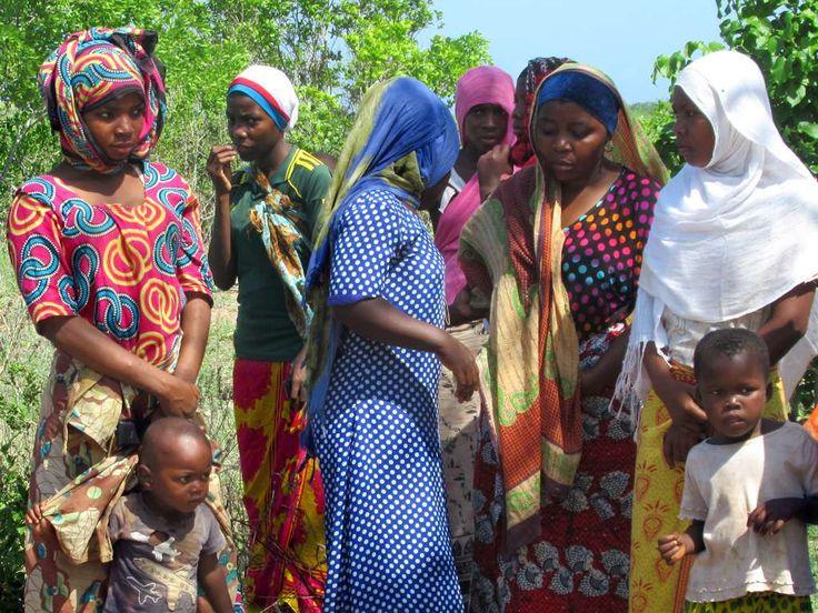 The women of Kilwa Kisiwani Island, Tanzania, favor colorful attire.