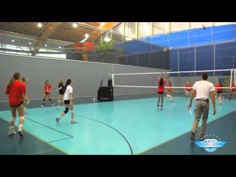 Two Touch Two Ball Tennis--great cooperative drill to get athletes to work on ball control, communication, and focus.