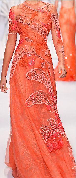 Beautiful beaded coral dress