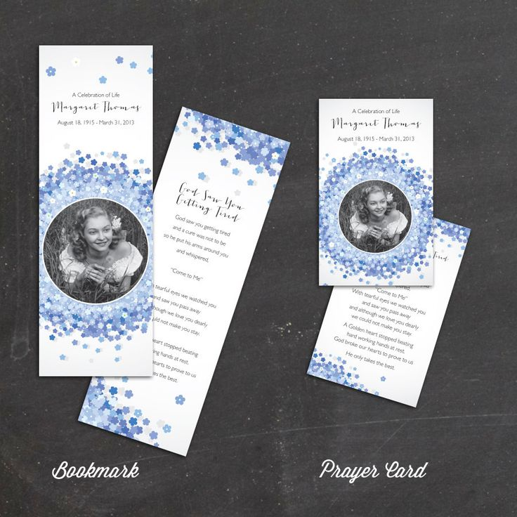 30 best funeral program templates images on pinterest for Funeral remembrance cards template