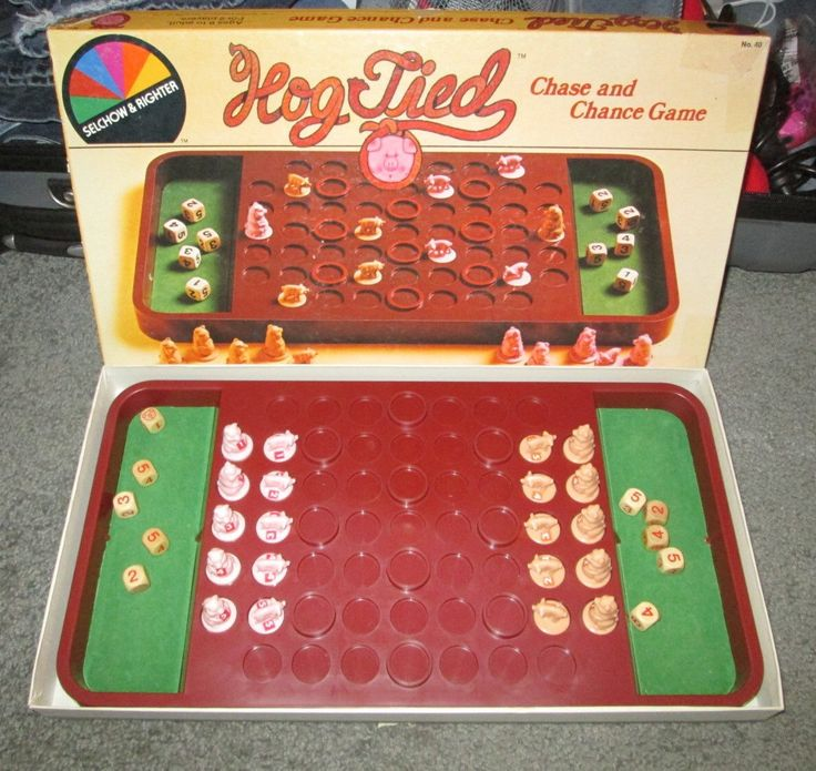 A personal favorite from my Etsy shop https://www.etsy.com/listing/469406232/vintage-hog-tied-rare-board-game-pig