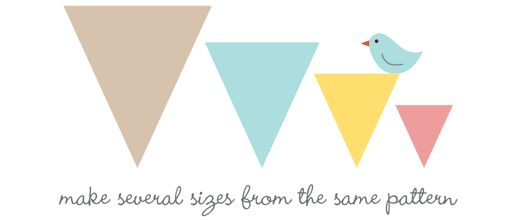 Fabric Bunting Pattern -different sizes