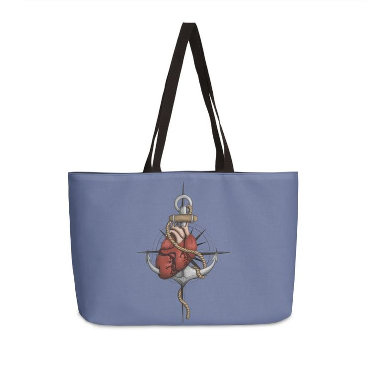 Love and Sea (anchor with heart and compass) by #Beatrizxe   #threadless #bag #tote #toteBag Illustration of a heart pierced by an anchor and surrounded by a rope. The background is a compass or windrose. It has a maritime theme, due to It shows a love for the sea and everything it contains.#ocean #sea #tattoo #navy #ship #sailor #nautical #anchor #beach #sailing #boat #oldschool #waves #tide #heart #love #rope #compass #windrose #ink #travel #journey #voyage #illustration #draw #drawing…