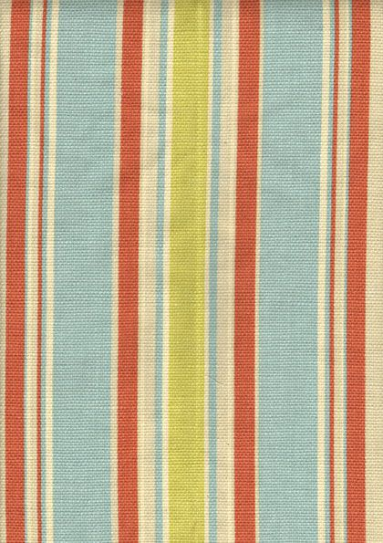 Four Seasons heavy linen Carribean stripe, something like this for dining/stool cushions.