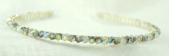 Tiara Topaz Swarovski Crystals  Wedding by Makewithlovecrafts, £19.99