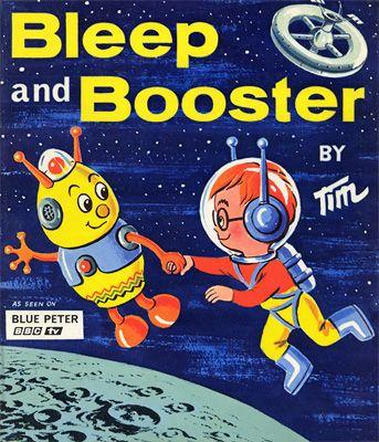 Blue Peter and Bleep and Booster - Carter Collectables - Blue Peter, Bleep and Booster, cult TV, children's TV, BBC, Bleep, Booster, cartoon...
