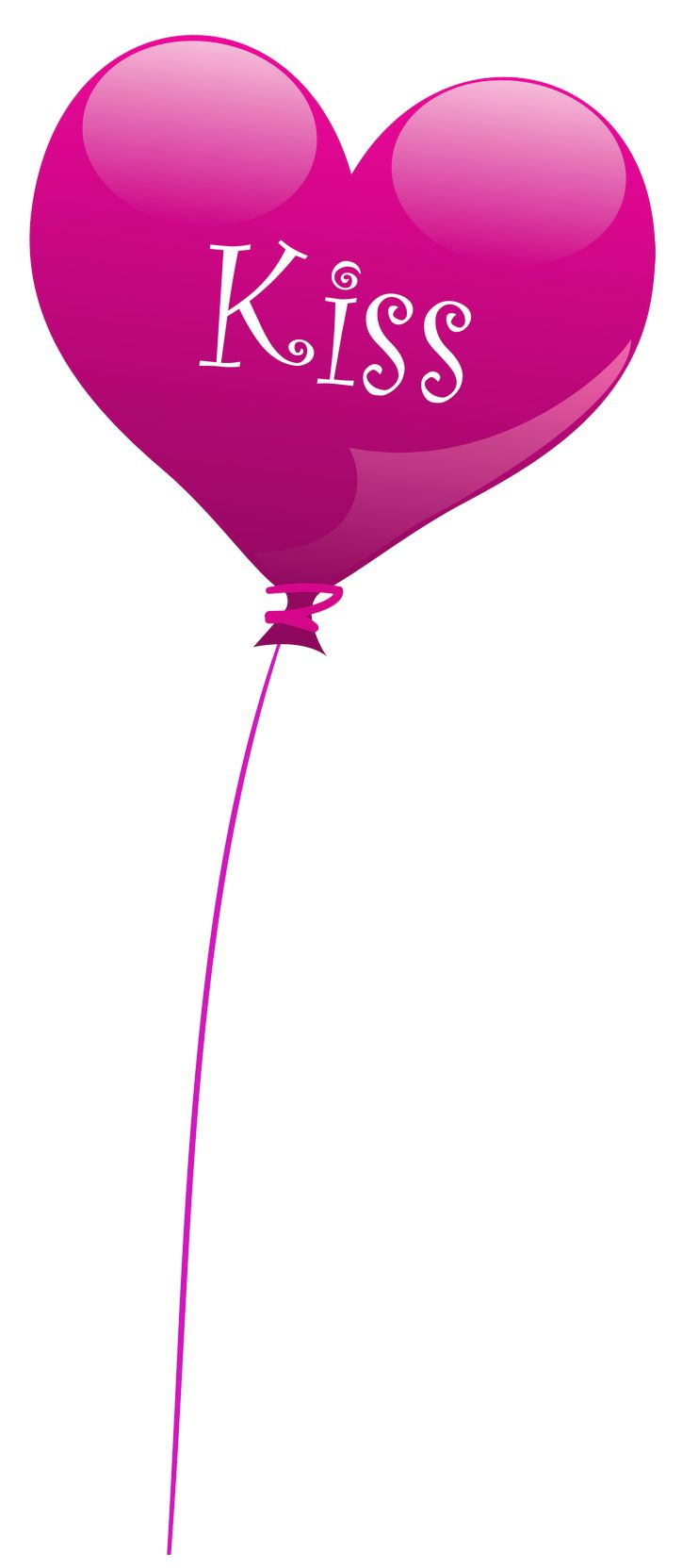 Transparent Heart Kiss Balloon PNG Clipart