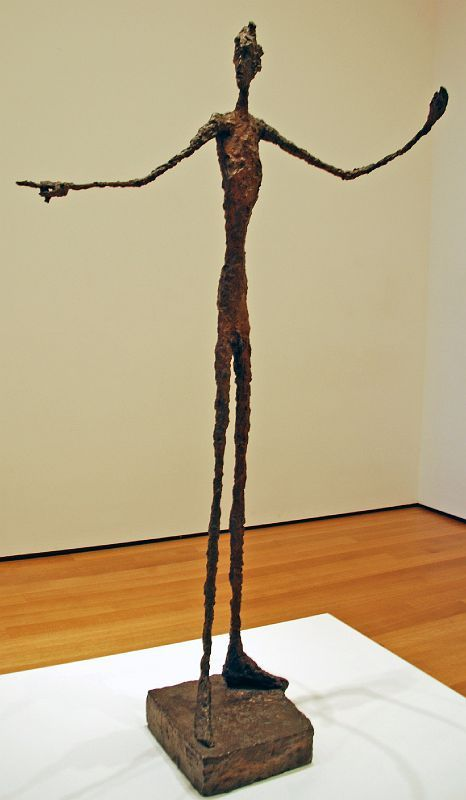 Alberto Giacometti-Man pointing. Bronze