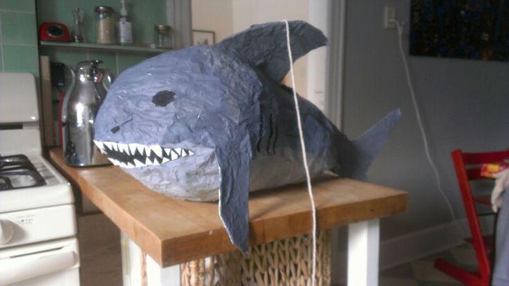 Homemade shark pinata | Kids | Pinterest | Sharks and Homemade