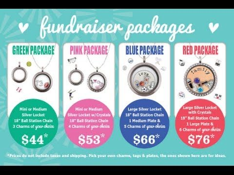 Origami Owl Fundraiser 4x6 Fundraiser Cards Video -