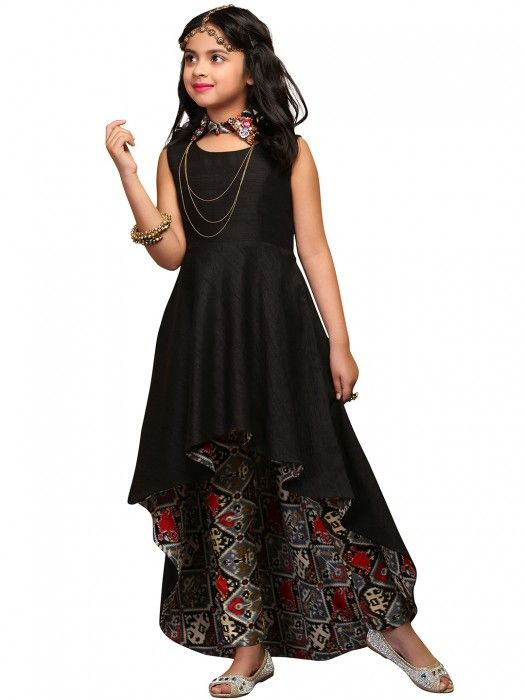 High Low Hemline Salwar Kameez for Kids Girls