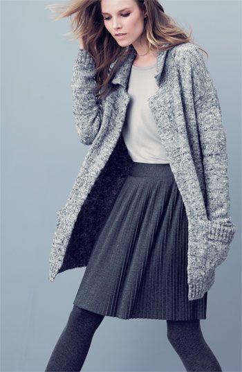 Sweater tights, sweater skirt; fall/winter