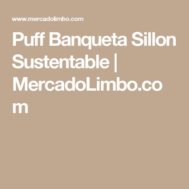 Puff Banqueta Sillon Sustentable | MercadoLimbo.com