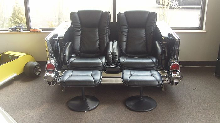 1957 Chevy Couch (reclines, heat and massage)