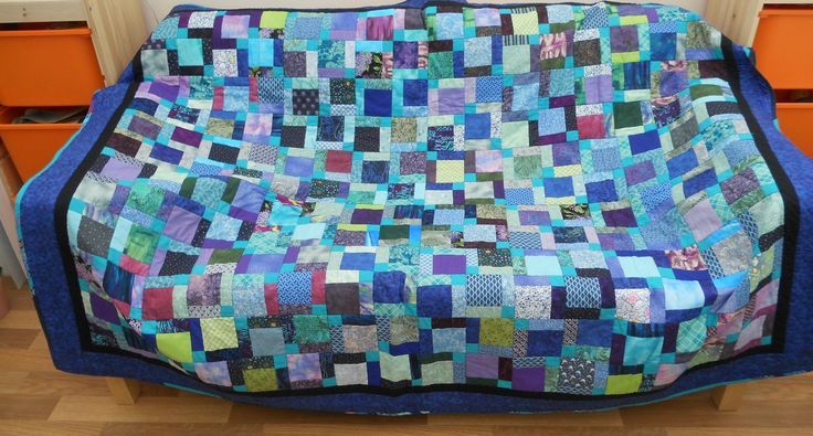 BEAUTIFULLY HAND SEWN PATCHWORK QUILT - SINGLE BED SIZE ~ SOLD ON MY EBAY SITE LUBBYDOT1