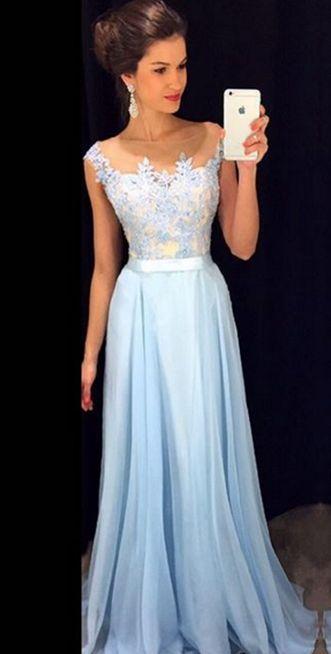 Prom Dress,Chiffon Prom Dress,A-Line Prom Dress,Charming Prom Dress,Appliques Prom Dress