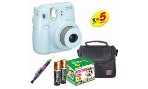 Groupon - Fujifilm Instax Mini 8 Film Camera (Blue) - Film(50 PCS) -Case-Brush. Groupon deal price: $124.65