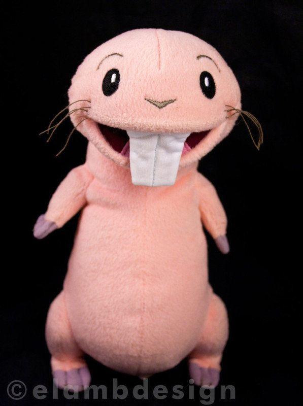"Disney Kim Possible Talking Rufus naked mole rat 10"" plush doll stuffed animal yessssss"