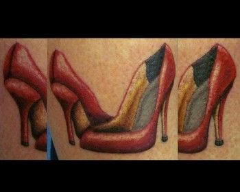25 best images about high heel tattoos on pinterest high