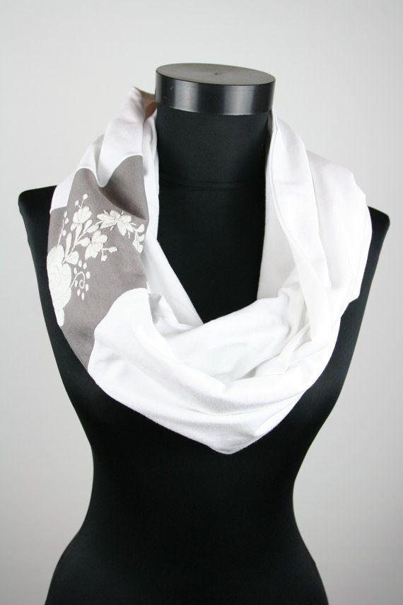 Woman infinity scarf  circle scarf  loop scarf   hand by MatyoKid