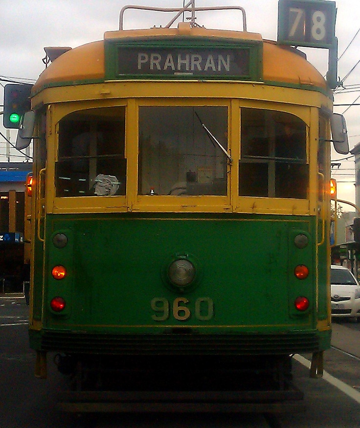 Melbourne tram - I love these old style ones :-)