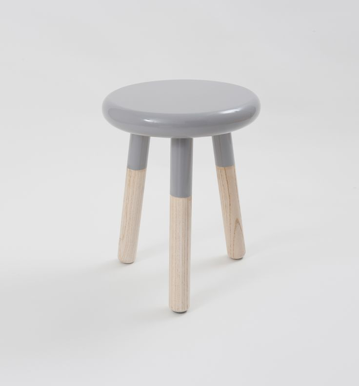 Malmo Stool in Grey  These fun stools are a contemporary take on a traditional milking stool. Endlessly useful, these little Malmo stools make great side tables, extra seating, bed side tables or even just a playful accent piece! The stool is available in a range of bright colours, which look great mixed together.  #interiordesign #stools #living #grey #scandinavian #MYHAH