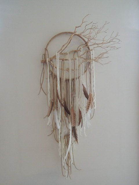 Modern Dreamcatcher wall art/mobile dream catcher by lovecAkeNYC, $250.00