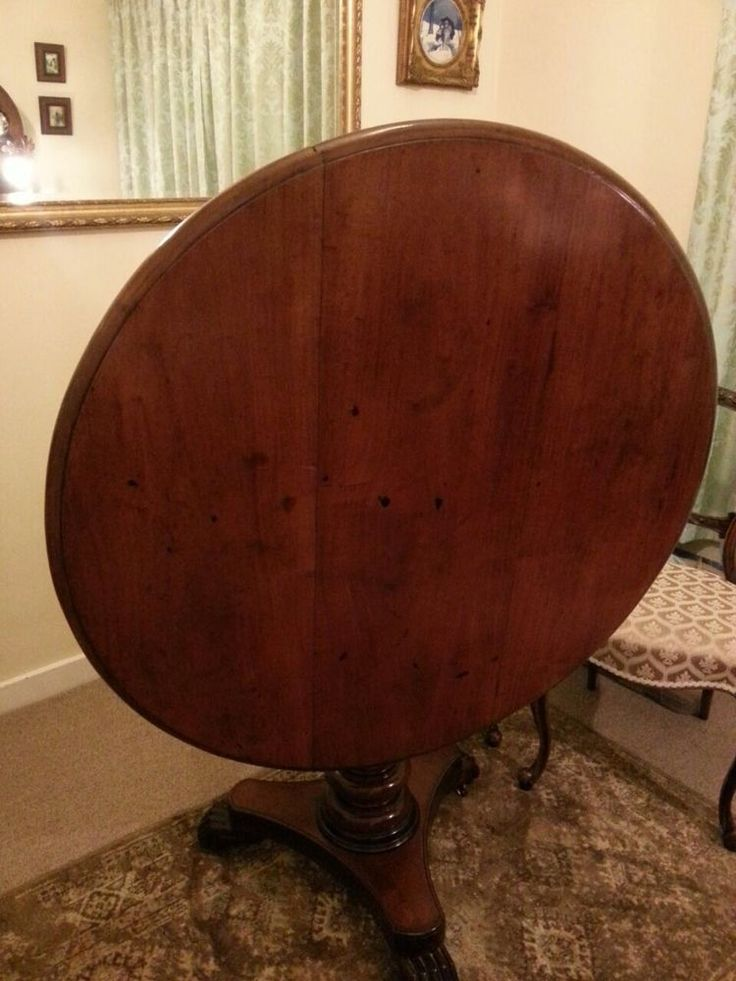 Bought! Victorian Antique Tilting Round Pedestal Dining Table £150
