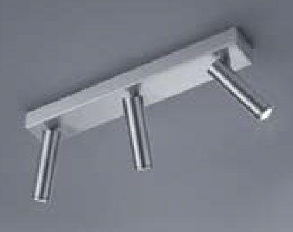 LED-Deckenstrahler FOX 35/1760.06 - mattnickel / 3flg - Helestra