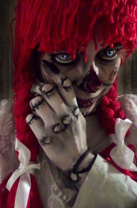 Annabelle Makeup. Artist - Jacquie Lantern www.jacquielantern.com doll makeup, halloween, horror