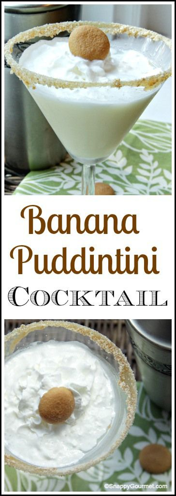 Banana Puddintini Cocktail recipe – easy homemade dessert drink inspired by bana…
