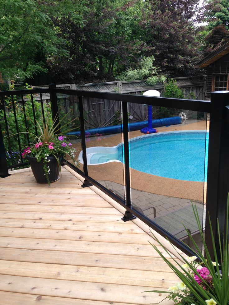 Balcony Railing | Glass panel for front and railings for side - Aluminum Solutions