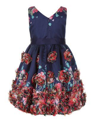 Sienna Cascade Dress | Navy | Monsoon