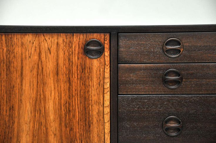 Harvey Probber Rosewood and Mahogany Sideboard | From a unique collection of antique and modern sideboards at https://www.1stdibs.com/furniture/storage-case-pieces/sideboards/