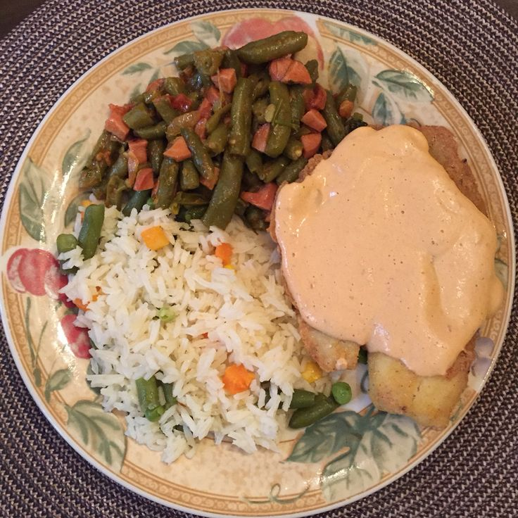 Tilapia with cream chipotle sauce